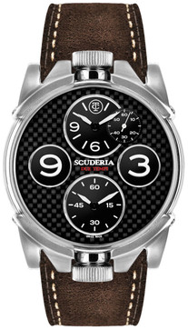 CT Scuderia 2 Tempi Carbon Twin Time -Silver/Brown