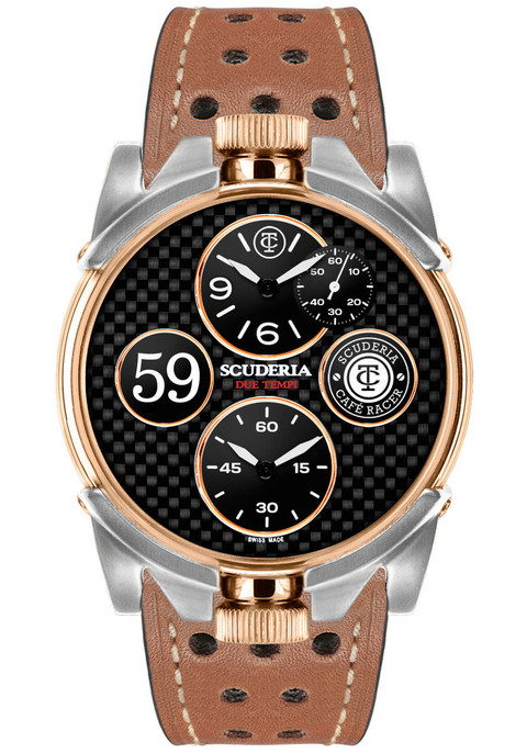 CT Scuderia 2 Tempi Carbon Twin Time -Rose Gold/Brown