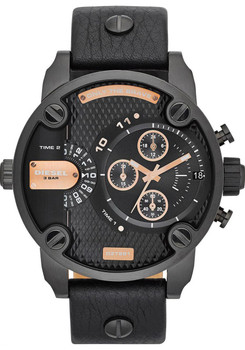 Diesel DZ7291 Mr. Daddy Black/Rose Gold Chrono Jump Hour