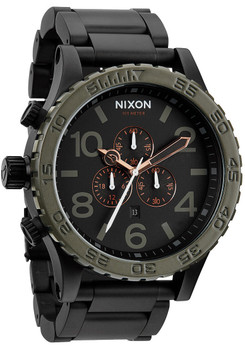 Nixon 51-30 Chrono Matte Black/Green