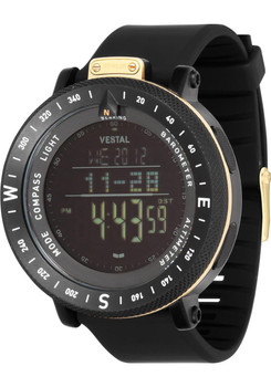 Vestal GDEDP06 The Guide: Altimeter Barometer Compass Black/Gold