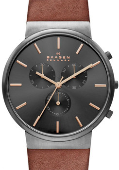 Skagen SKW6106 Ancher Chronograph Saddle Brown/Grey