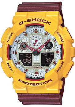 G-Shock Classic X-Large Maroon/Yellow - Limited Edition