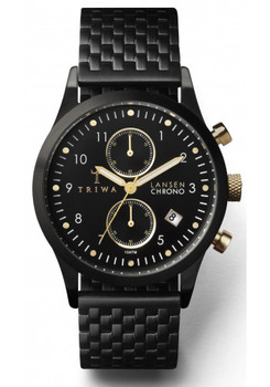 Triwa Lansen Chrono Midnight Steel