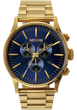 Nixon Sentry SS Chrono Gold/Blue Sunray