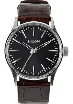 Nixon Sentry 38 Gator Leather Brown