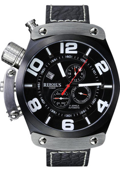 Rebosus XL Black Automatic Day/Date Dual Time -NEW!