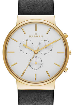 Skagen SKW6143 Ancher Chronograph Gold/White