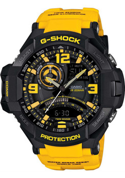G-Shock Gravity Defier Digital Compass - Black/Yellow