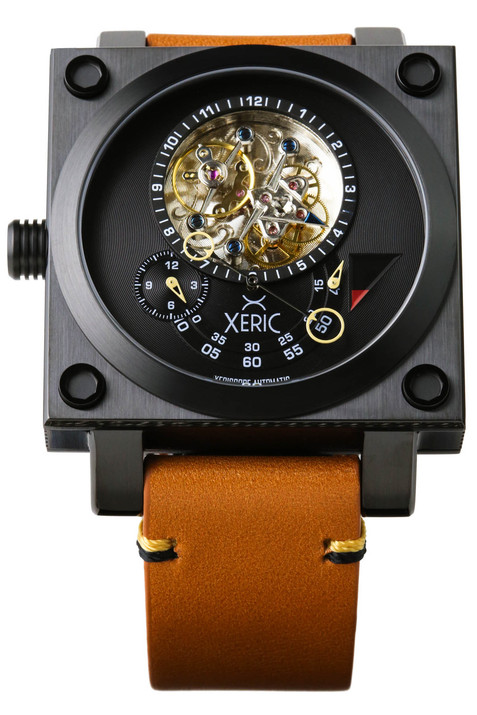 Xeric xeriscope squared black tan for Black tan watch