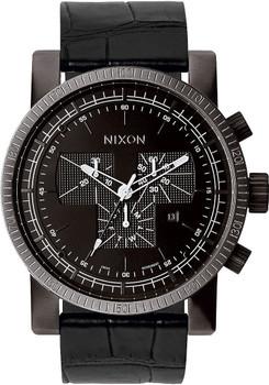 Nixon Magnacon II Chronograph Black Horween Gator