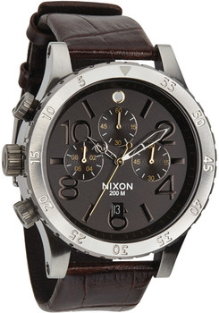 Nixon 48-20 Chrono Leather Brown Gator