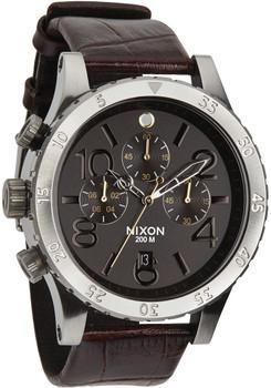 Nixon 48-20 Chrono Leather Brown Gator
