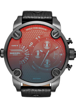 Diesel DZ7334 Mr. Daddy Leather Chrono Iridescent