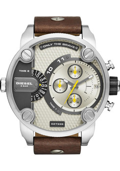 Diesel DZ7335 Mr. Daddy Leather Chrono Brown