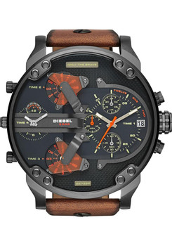 Diesel DZ7332 Mr. Daddy 2.0 Leather Brown/Gun