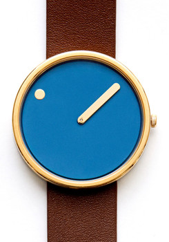 Rosendahl PIcto Leather Blue/Brown