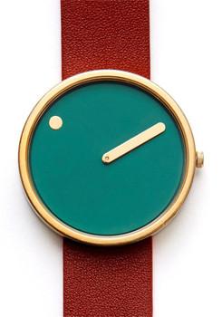 Rosendahl PIcto Leather Green/Dark Red