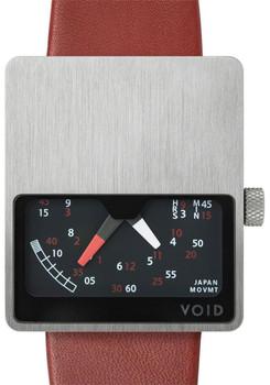 Void Steel/Burgundy V02 Retrograde