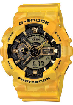 G-Shock XL Worldtime Yellow Camo -Limited Edition