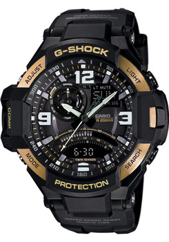 G-Shock Gravity Defier Compass -Black/Gold