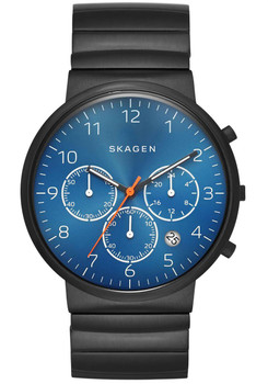 Skagen SKW6166 Ancher Titanium Wave Link -Black