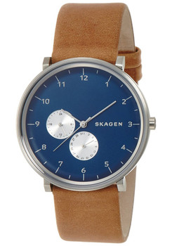 Skagen SKW6167 Hald Leather Multifunction -Tan/Blue