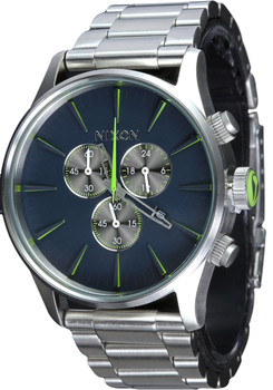 Nixon Sentry Chrono Midnight Blue/Volt