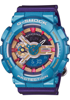 G-Shock Multi-Color S Series Blue Purple Bronze Analog Digital