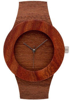 Analog Watch Co. Makore & Red Sanders Wood Minimal (ANALOG-M)