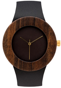 Analog Watch Co. Leather & Blackwood Minimal (ANALOG-L)