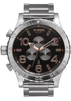 Nixon 51-30 Chrono Gray Rose Gold