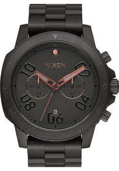 Nixon Ranger Chrono All Black/Rose Gold