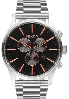 Nixon Sentry Chrono Grey Rose Gold