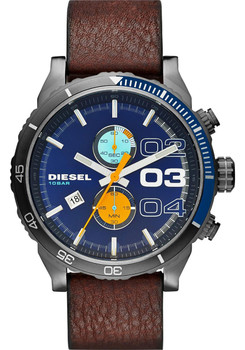 Diesel DZ4350 Double Down Chronograph Blue/Gunmetal