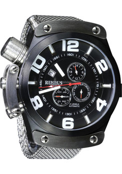 Rebosus 24 Hour Dual Time Automatic -Steel Mesh