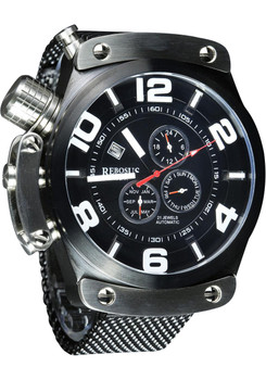 Rebosus 24 Hour Dual Time Automatic -Black Mesh