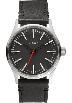 Nixon Sentry 38 Leather Steel Black