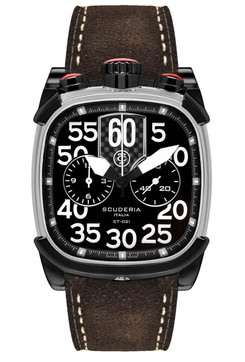 CT Scuderia Scrambler Chronograph Dark Brown