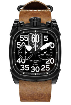 CT Scuderia Scrambler Chronograph Black & Tan