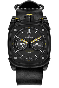 CT Scuderia Scrambler Chronograph Black/Yellow