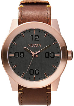 Nixon Corporal Rose Gold/Gunmetal/Brown