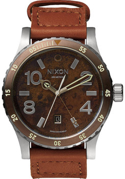 Nixon Diplomat GMT Copper/Saddle Brown