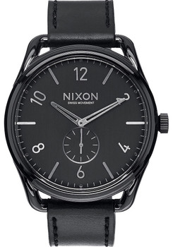 Nixon C45 Leather Black