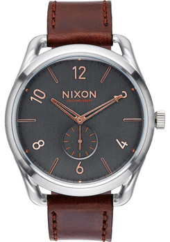 Nixon C45 Leather Gray/Rose Gold
