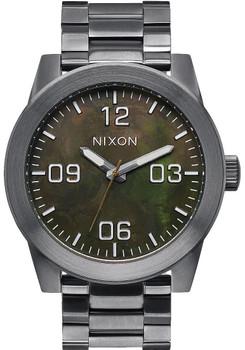 Nixon Corporal SS Gunmetal/Green Oxyde