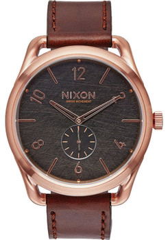Nixon C45 Leather Rose Gold Brown