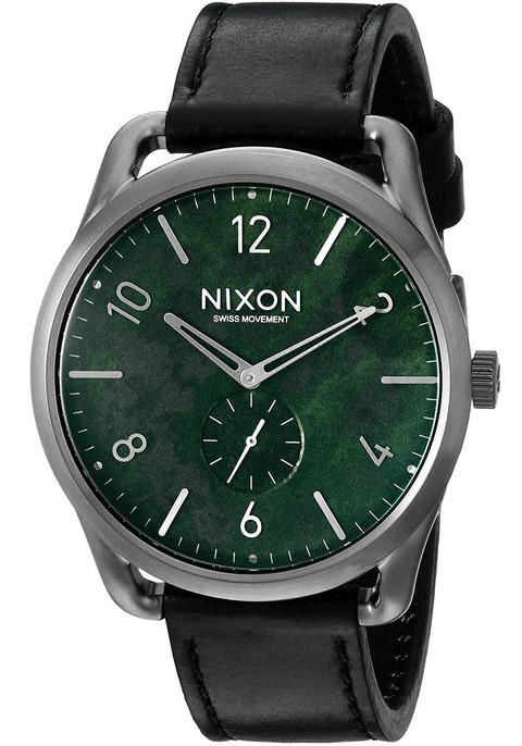 Nixon C45 Leather Gun Green Oxyde (A4652069)