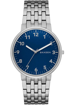 Skagen Ancher Steel Link Watch Blue SKW6201