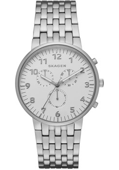 Skagen Ancher Chronograph Steel Link Watch SKW6231